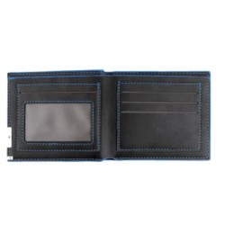 Outad Leather Bifold Wallet Black