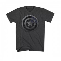 Marvel Captain America T-Shirt Charcoal Heather