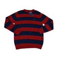 Tommy H - Red Strip Sweater