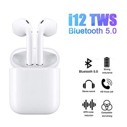 i12 TWS Bluetooth In-Ear Pods White