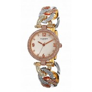 Akribos XXIV Women's Rose Gold Crystals Glamour Style Watch