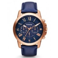 Fossil Neutra Chronograph Navy Leather Watch - Men
