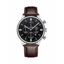 Shaarms Men's Casual Leather Watch