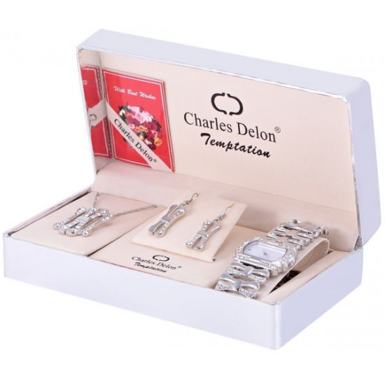 Charles Delon Watch & Jewelry Set For Women